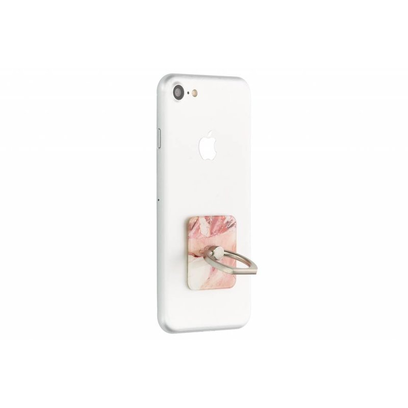 Roze marmer phone ring stand