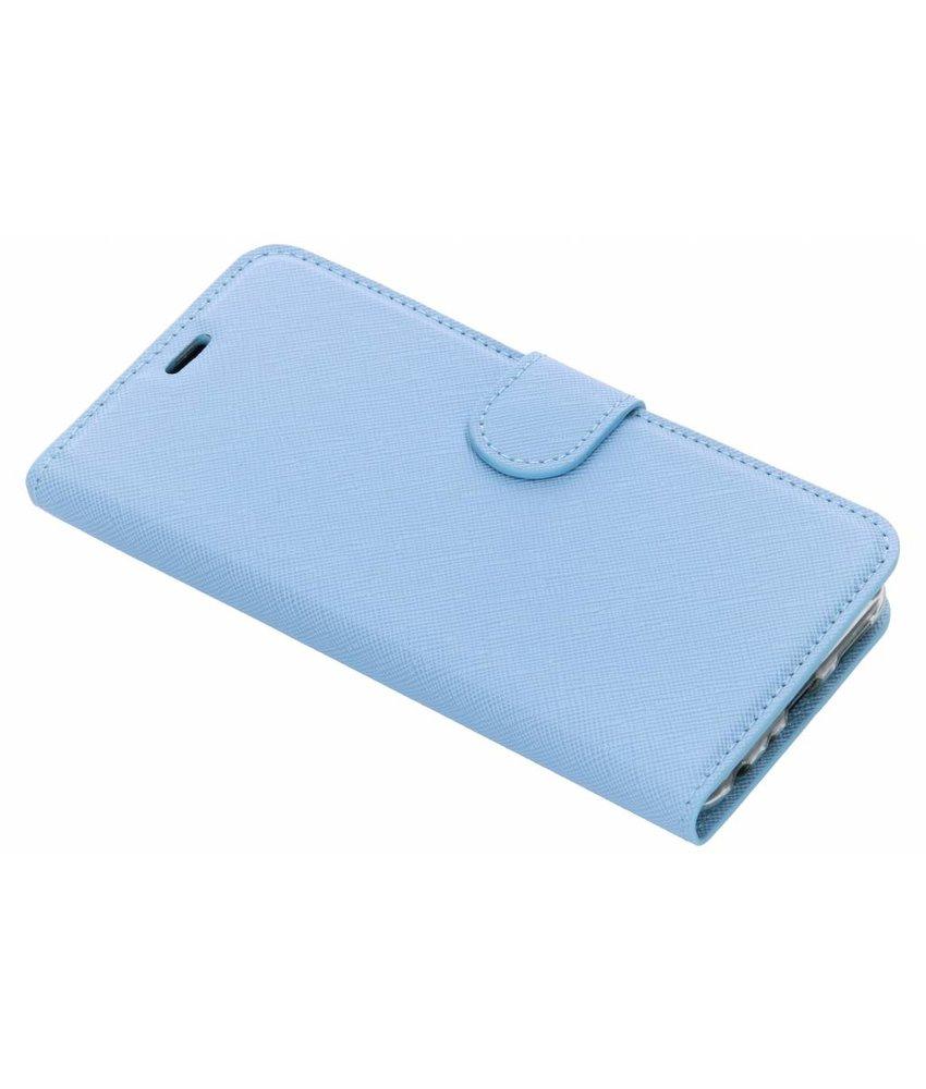 Selencia Lichtblauw Saffiano booktype hoes Huawei P Smart
