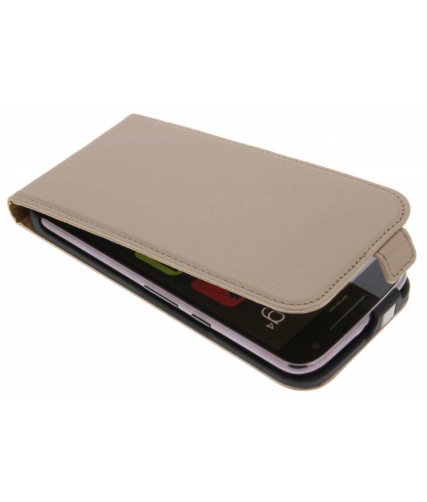 Selencia Goud Luxe Flipcase Motorola Moto G4 (Plus)