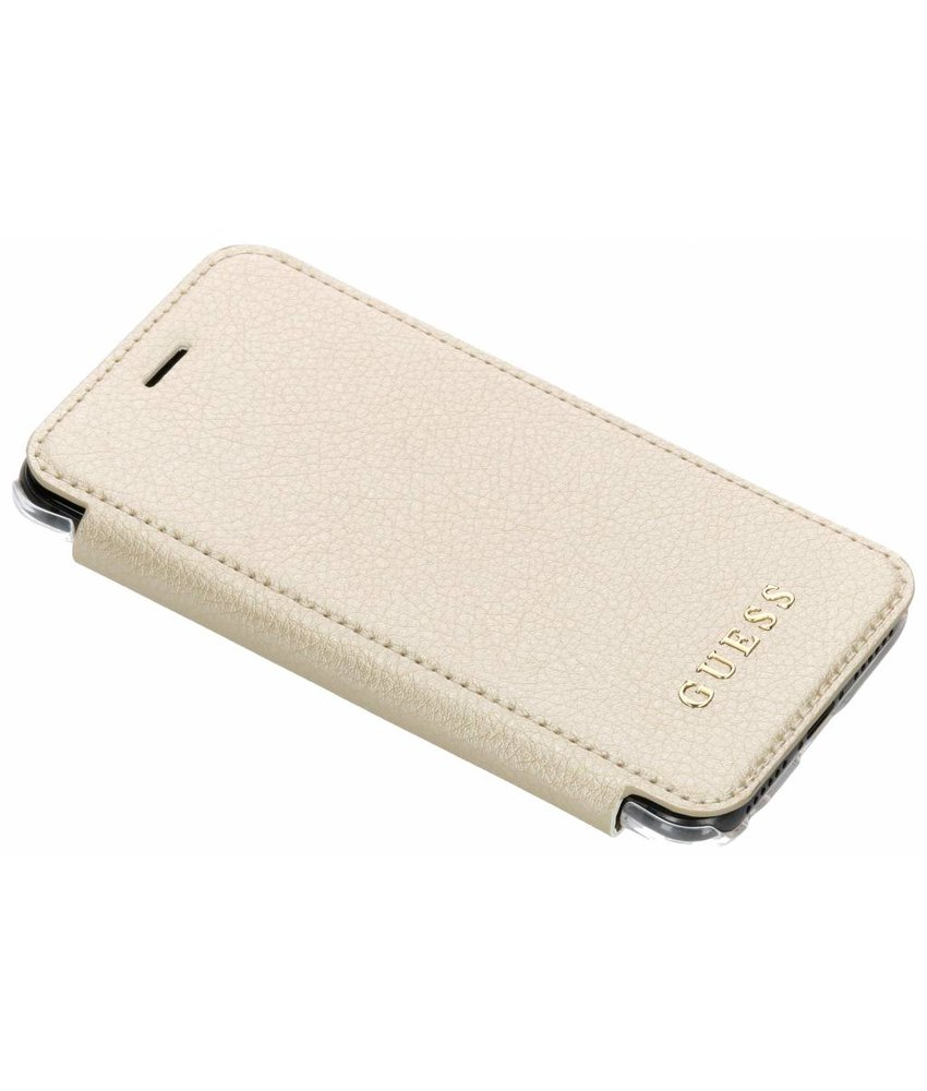 Guess Goud Transparent Back Foliocase iPhone 8 / 7