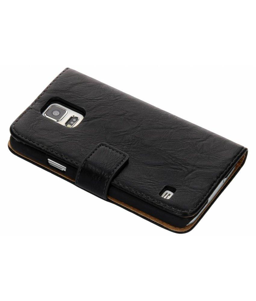 Kreukelleder booktype hoes Samsung Galaxy S5 (Plus) / Neo