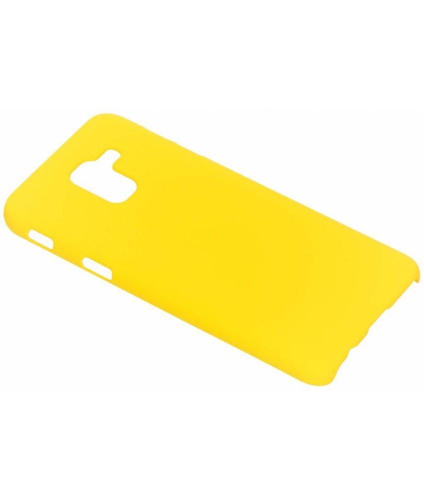 Geel effen hardcase hoesje Samsung Galaxy J6