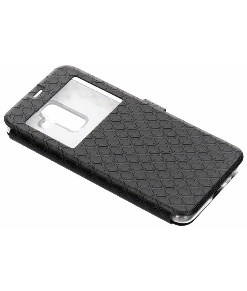Zwart Rhombus hoesje Samsung Galaxy A6 Plus (2018)