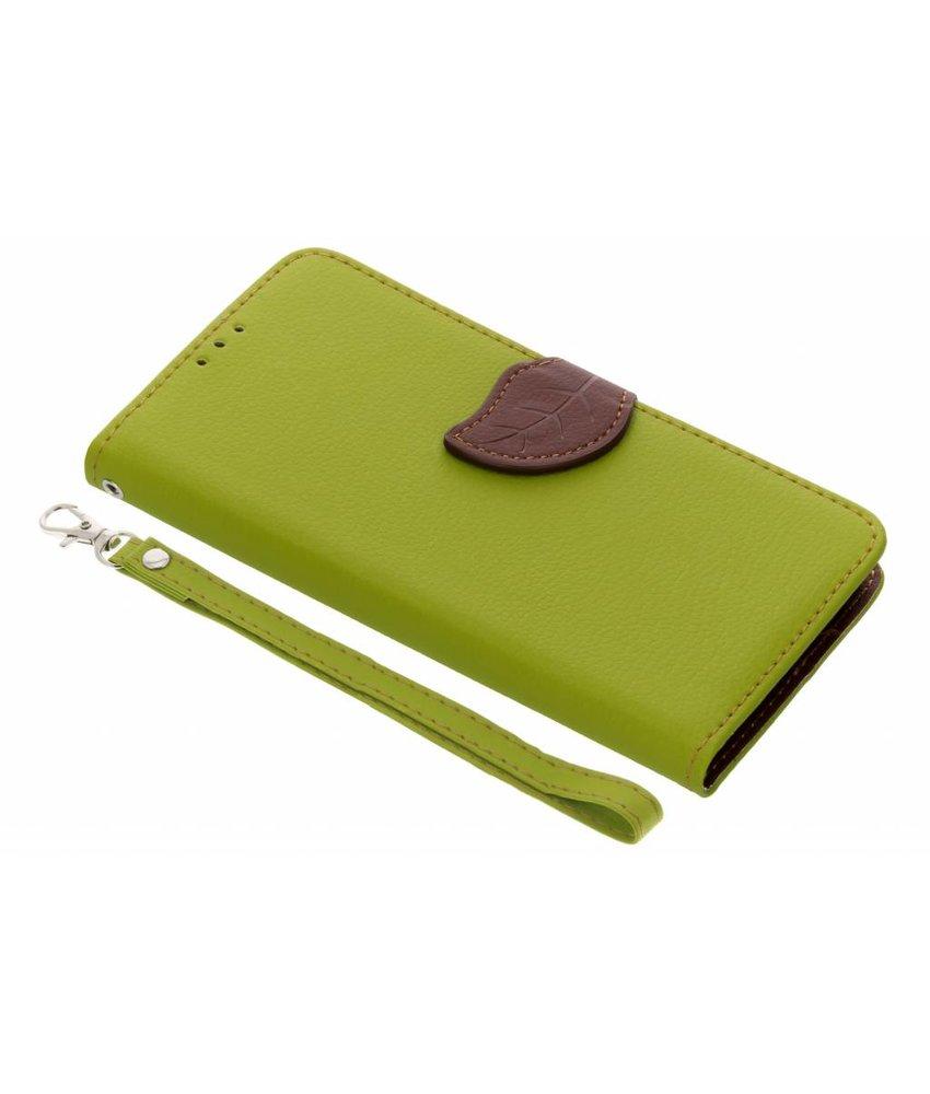 Groen Blad design TPU booktype hoes Huawei Y6 (2018)