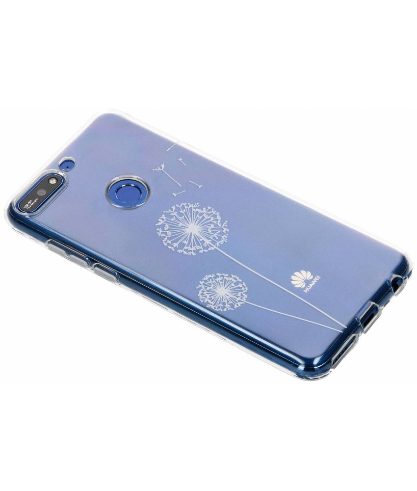 Transparant festival TPU hoesje Huawei Y7 (2018)