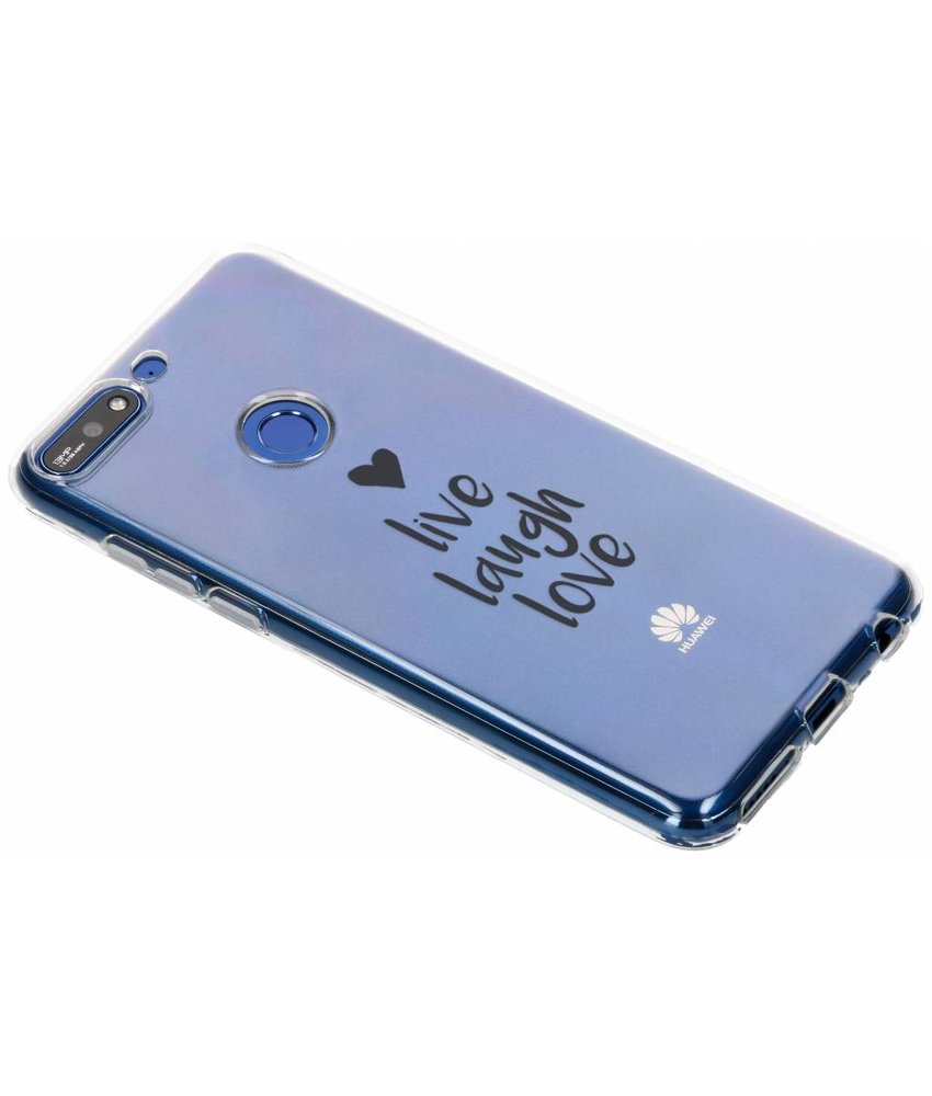 Quote design TPU hoesje Huawei Y7 (2018)