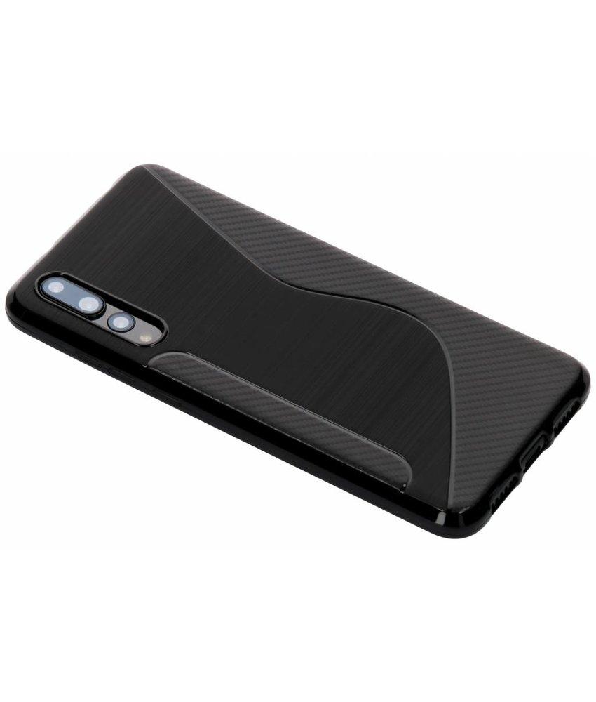 Zwart S-line TPU hoesje Huawei P20 Pro