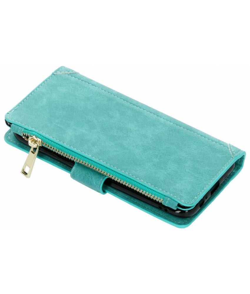 Turquoise Luxe portemonnee hoes Samsung Galaxy A6 (2018)