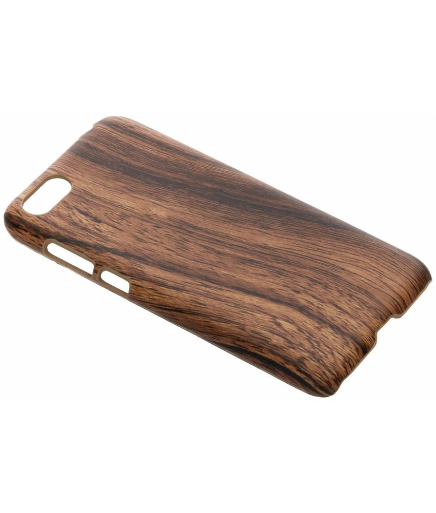 Donkerbruin hout design hardcase hoesje Huawei Y5 (2018)
