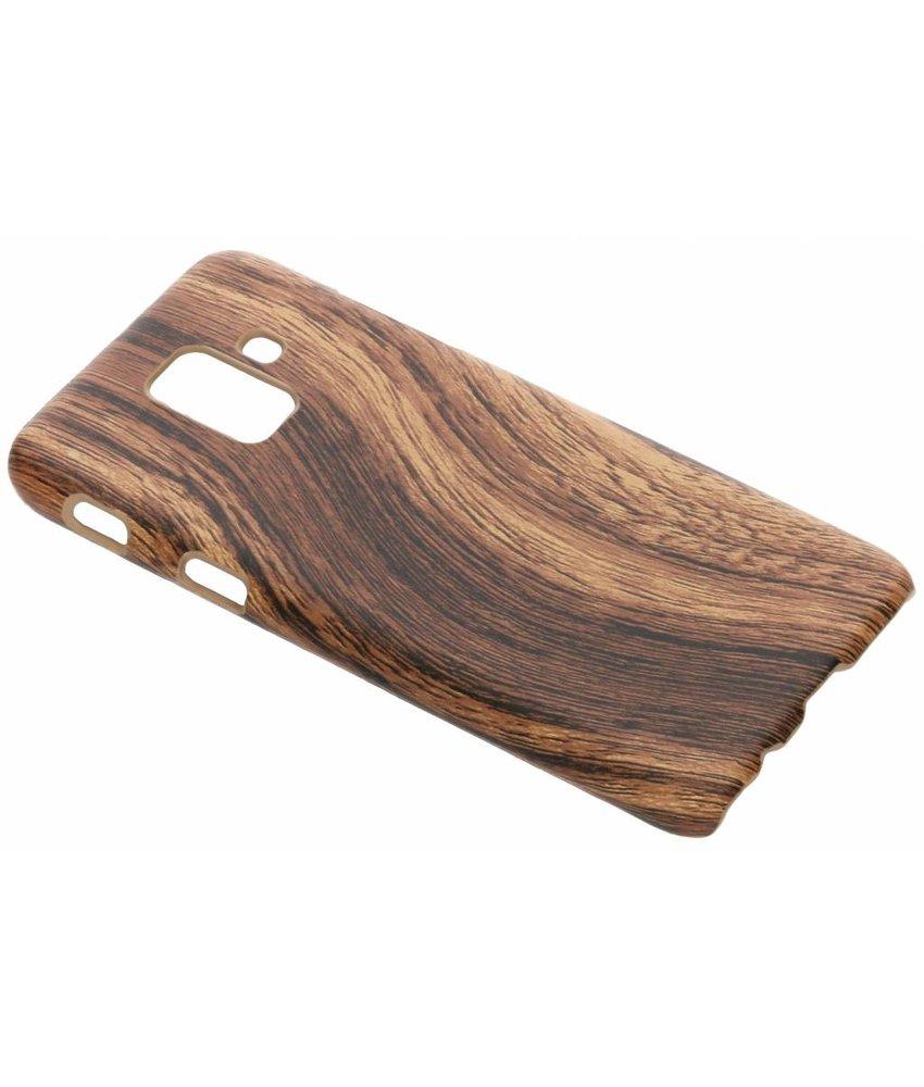 Hout design hardcase hoesje Samsung Galaxy A6 (2018)