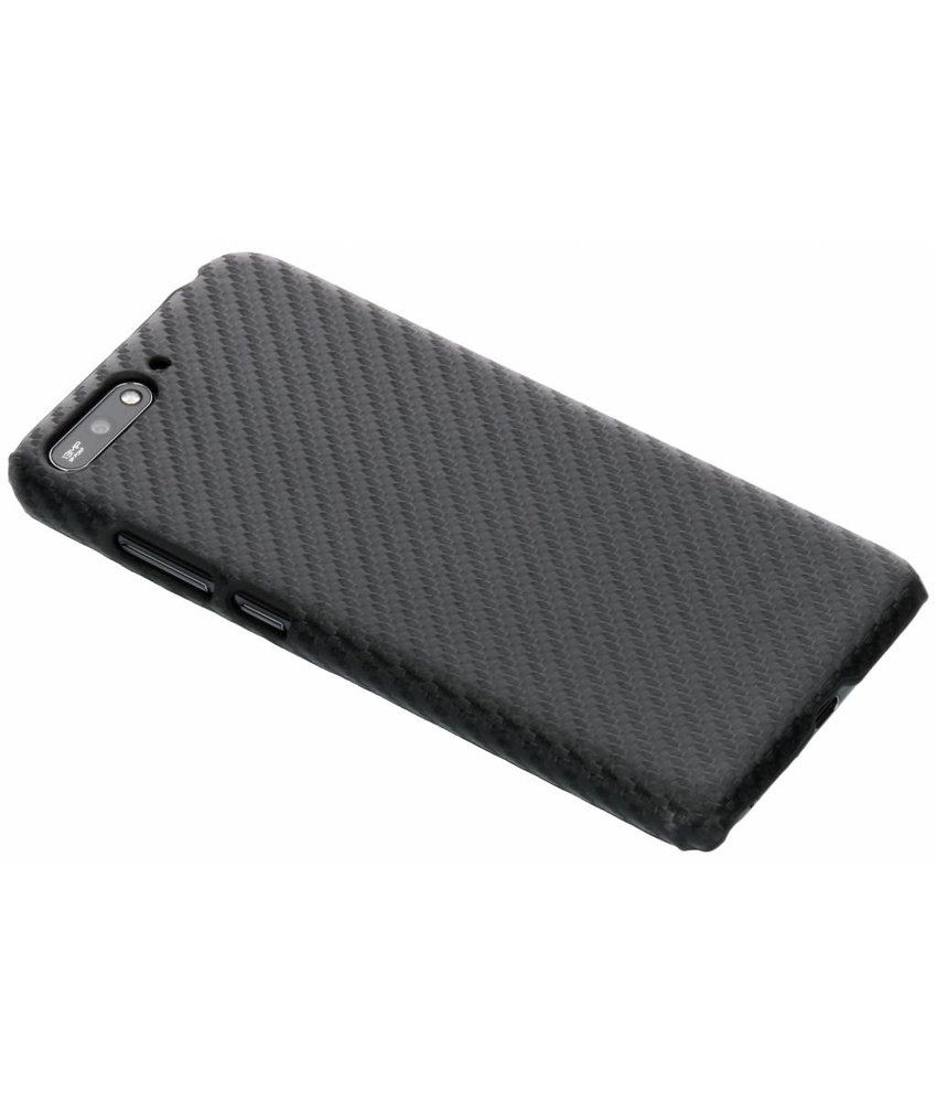Carbon Hardcase Backcover Huawei Y6 (2018)