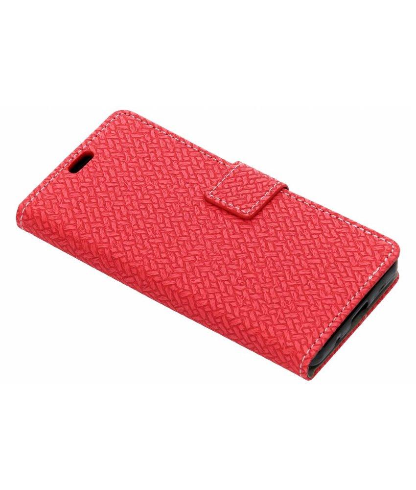 Rood Gevlochten booktype hoes Huawei Y3 (2018)