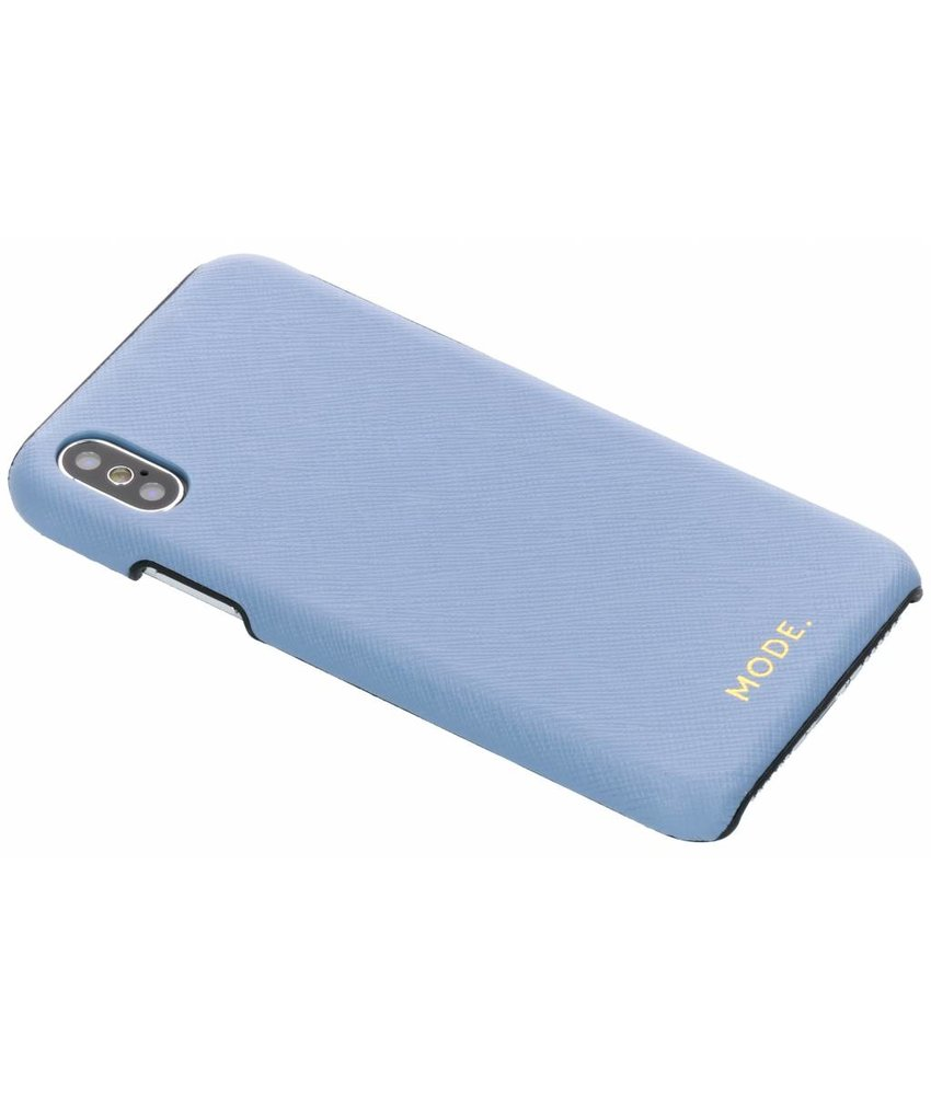 dbramante1928 Blauw London Leather Snap-On Case iPhone Xs / X