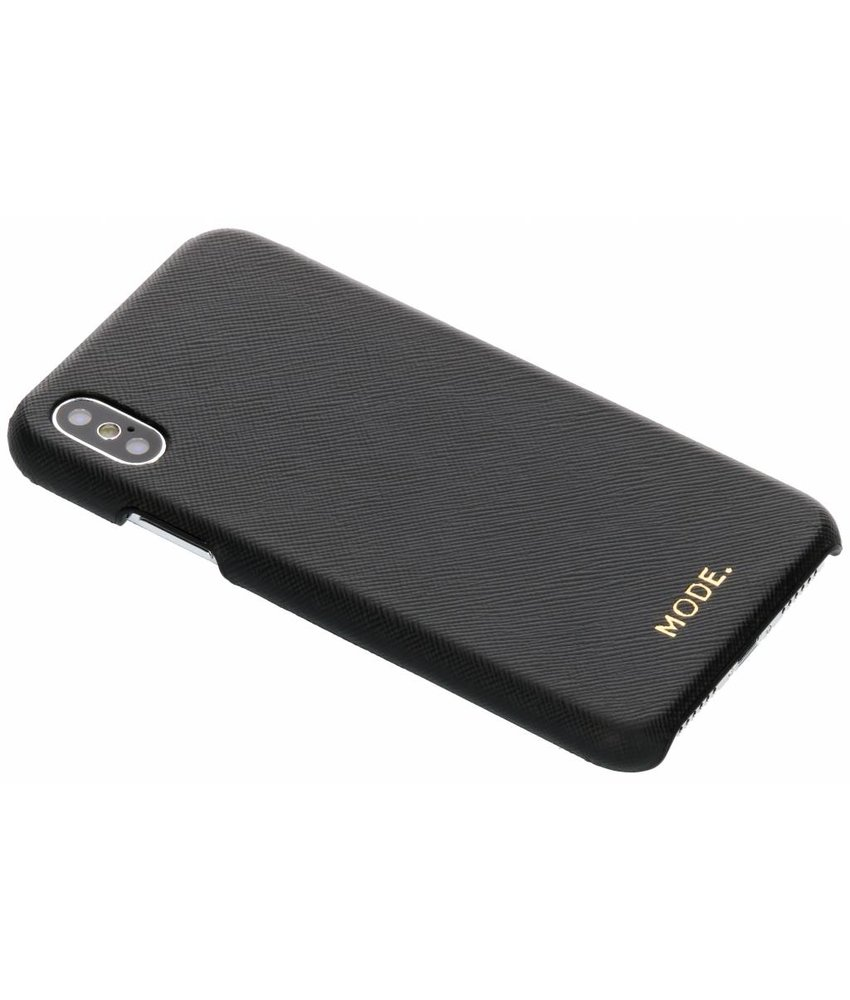 dbramante1928 Zwart London Leather Snap-On Case iPhone Xs / X