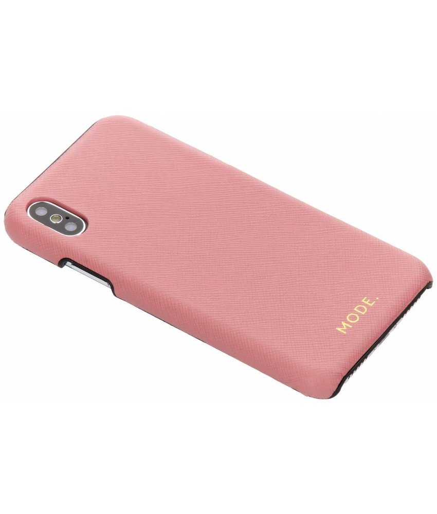 dbramante1928 Roze London Leather Snap-On Case iPhone Xs / X