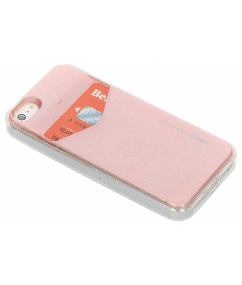 Mercury Goospery Roze Card Pocket Case iPhone 5 / 5s / SE