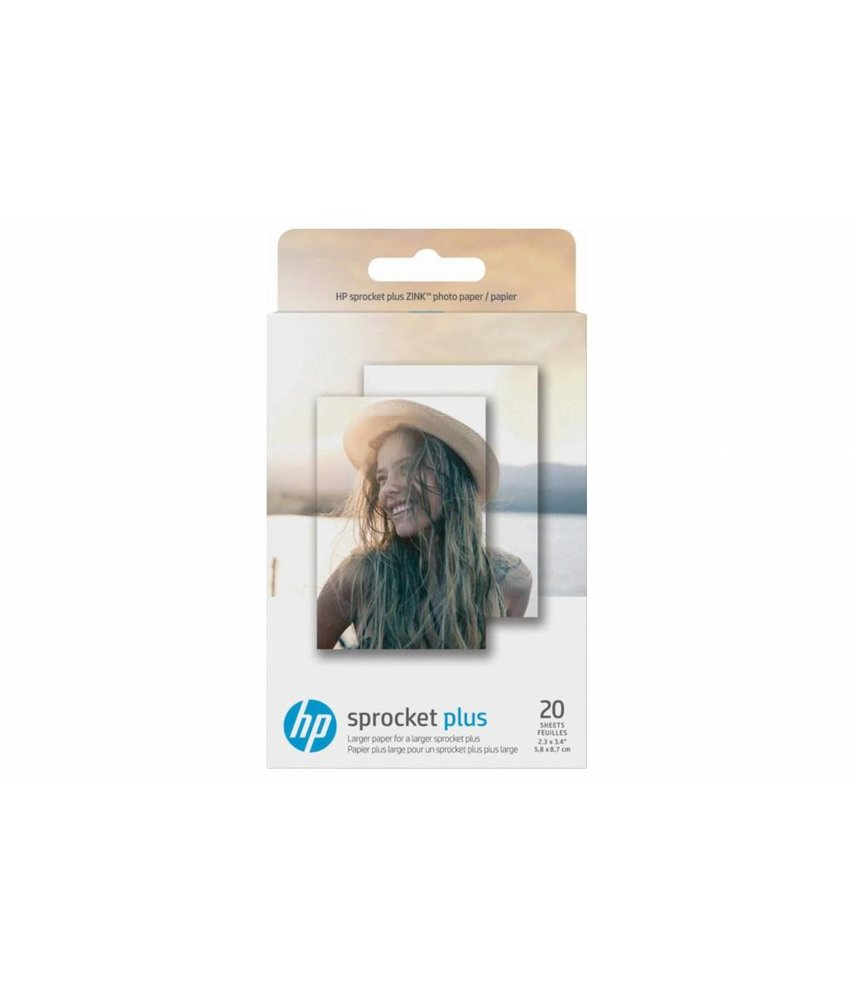 HP Zink® Photo Paper Sprocket Plus - 20 Sheets