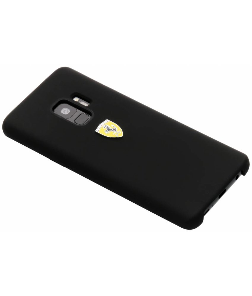 Ferrari Zwart Silicone Hard Case Samsung Galaxy S9