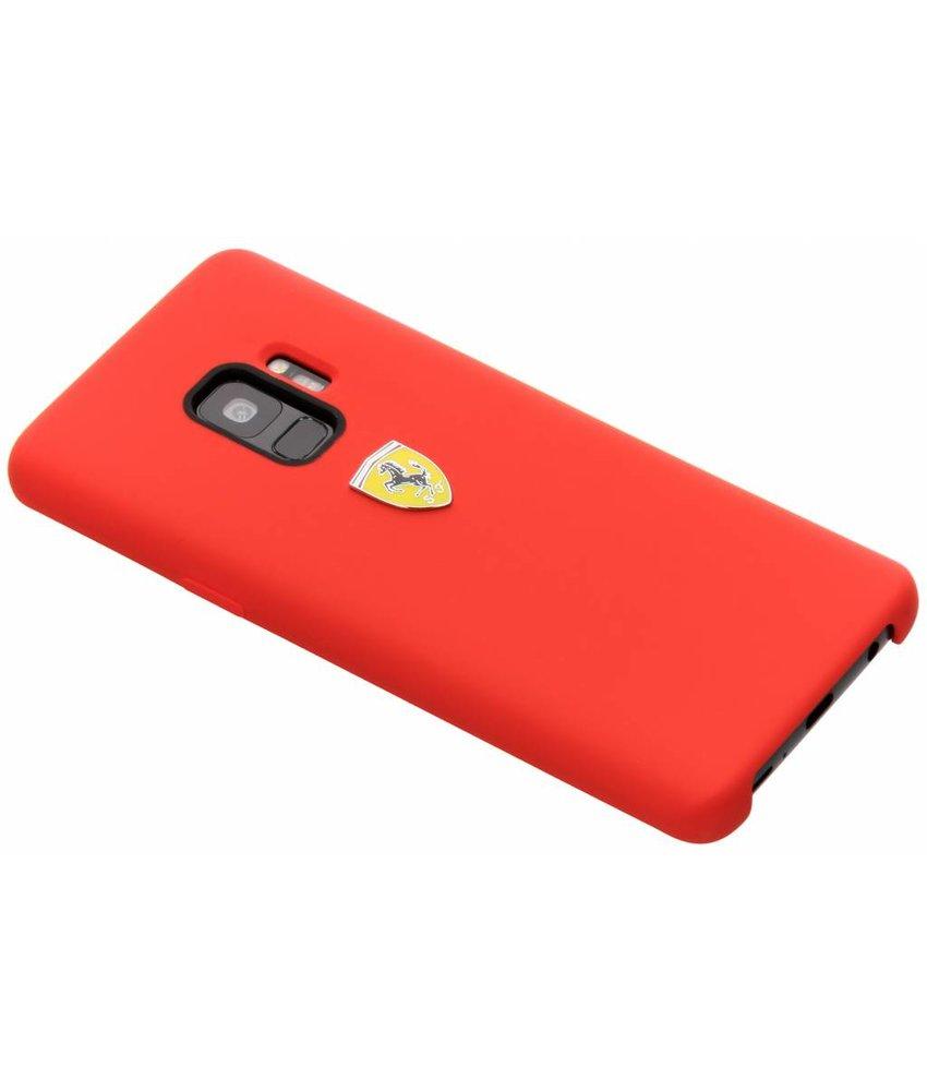 Ferrari Rood Silicone Hard Case Samsung Galaxy S9