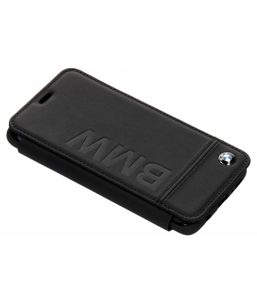 BMW Zwart Real Leather Booktype Case Samsung Galaxy S9
