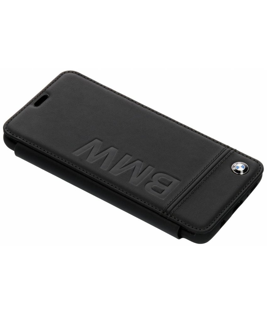 BMW Zwart Real Leather Booktype Case Samsung Galaxy S9 Plus