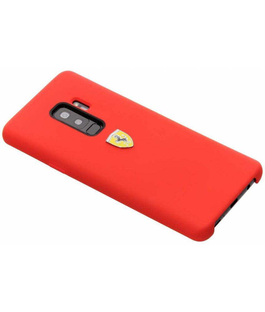 Ferrari Rood Silicone Hard Case Samsung Galaxy S9 Plus