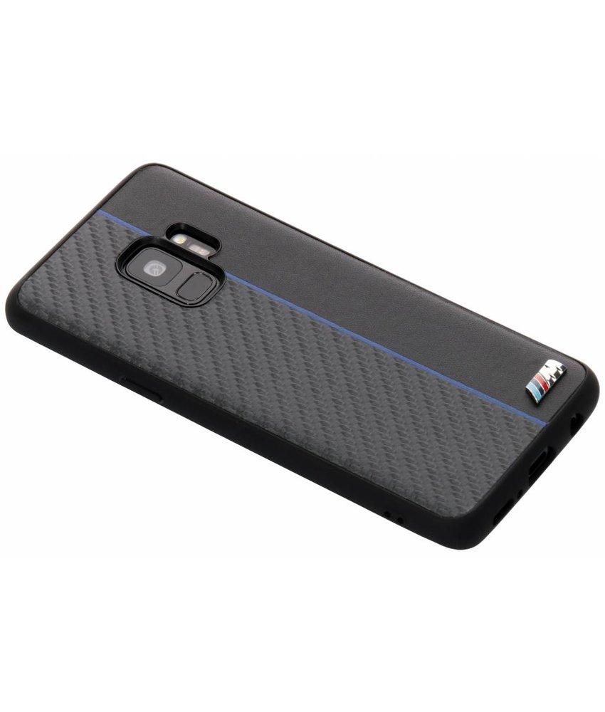 BMW Zwart / Blauw M Line Carbon Hard Case Samsung Galaxy S9