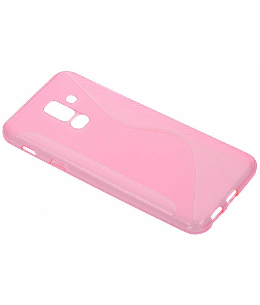 Roze S-line TPU hoesje Samsung Galaxy A6 Plus (2018)