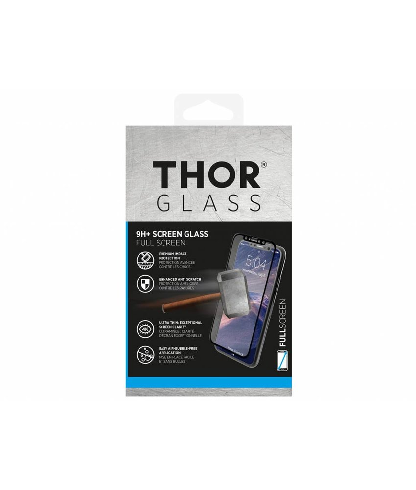THOR Zwart 9H+ Full Screen Glass Protector Galaxy A6 Plus (2018)