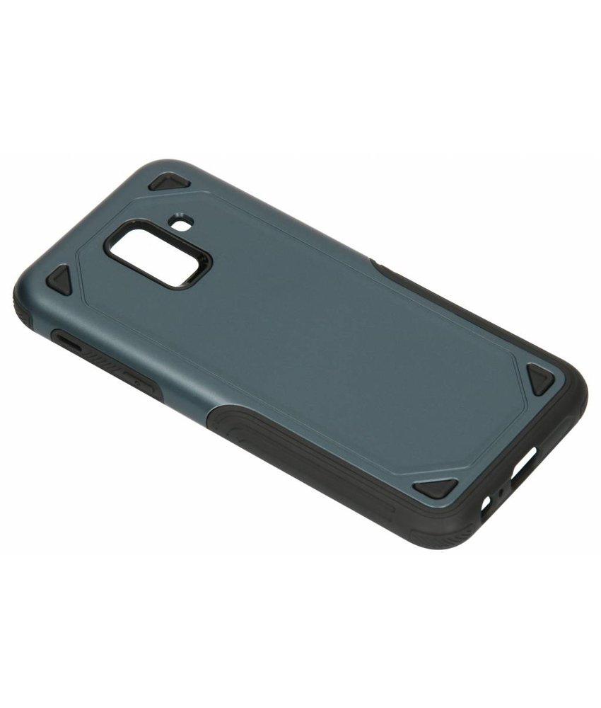 Blauw Rugged hardcase hoesje Samsung Galaxy A6 (2018)