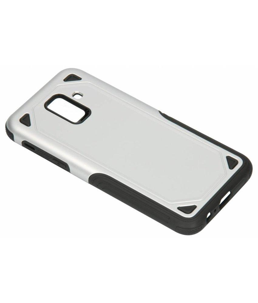Zilver Rugged hardcase hoesje Samsung Galaxy A6 (2018)