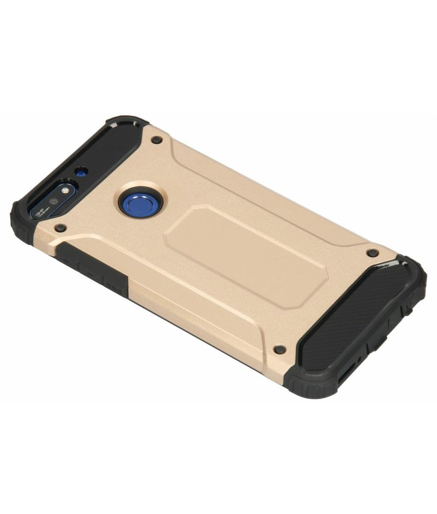 Goud Rugged Xtreme Case Huawei Y7 (2018)