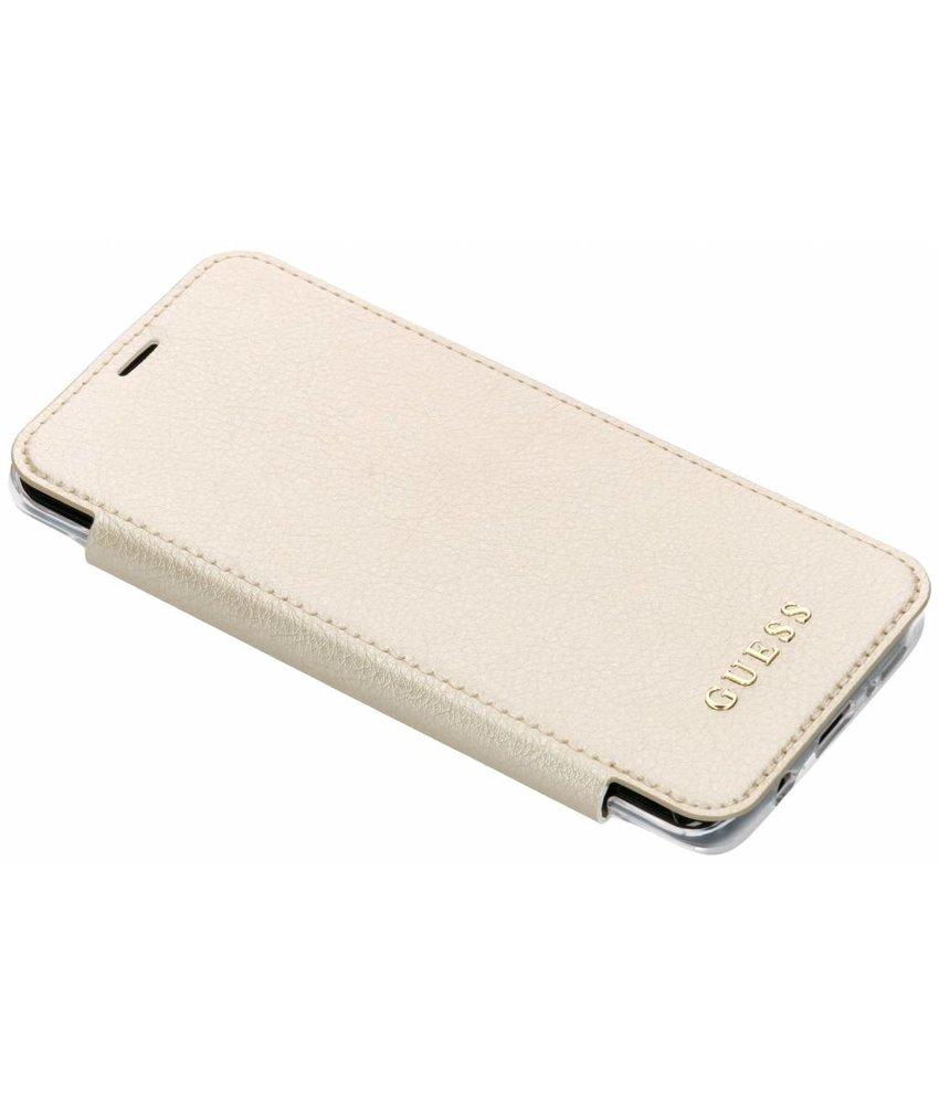 Guess Goud Transparent Back Foliocase Samsung Galaxy S9 Plus