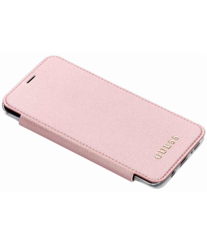Guess Rosé Goud Transparent Back Foliocase Samsung Galaxy S9 Plus