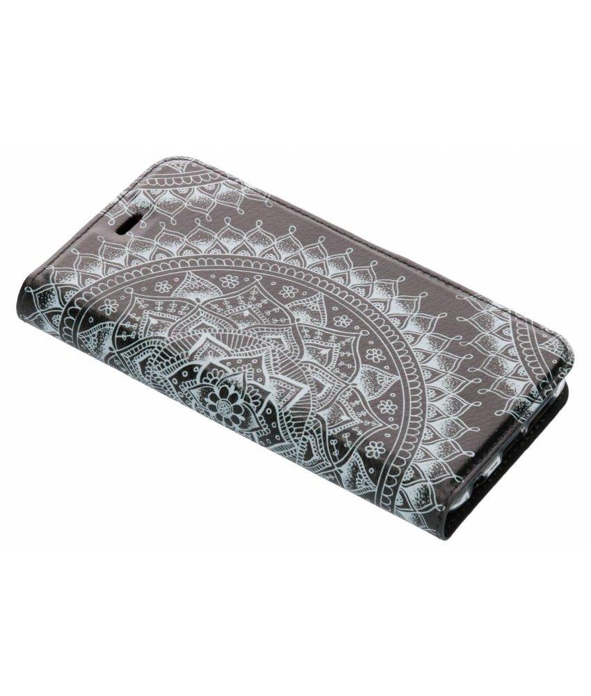 Design Softcase Booktype Huawei P20 Lite