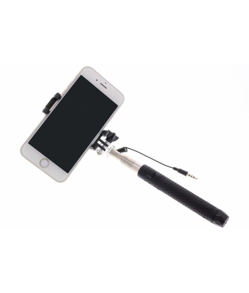 Zwart universele mini selfie stick