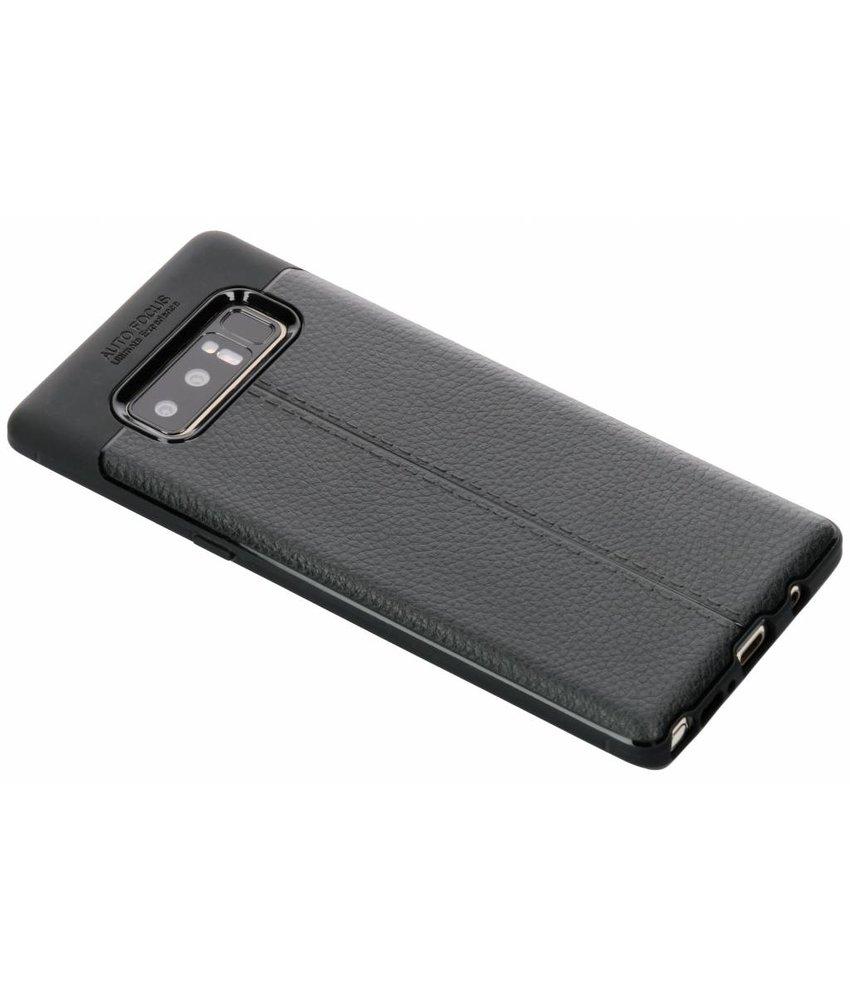 Zwart Lederen siliconen case Samsung Galaxy Note 8