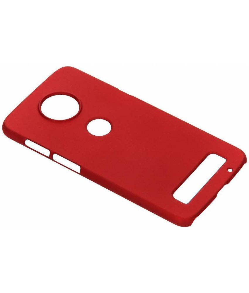Rood Effen hardcase hoesje Motorola Moto Z3 Play
