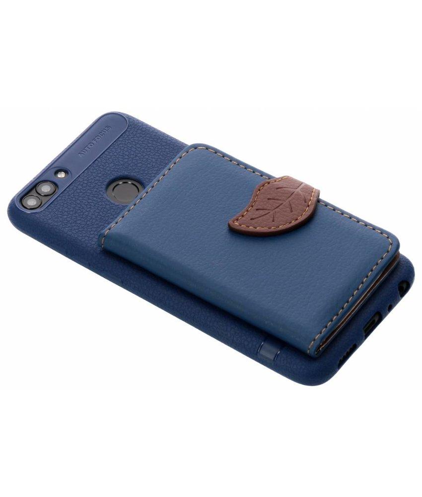 Blauw blad design TPU hoesje Huawei P Smart
