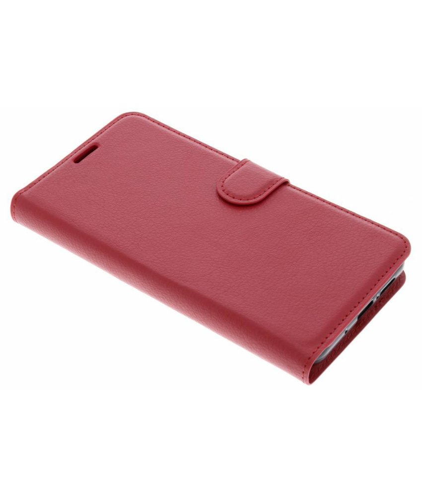 Rood Litchi Booktype Hoes Huawei Mate 10 Pro