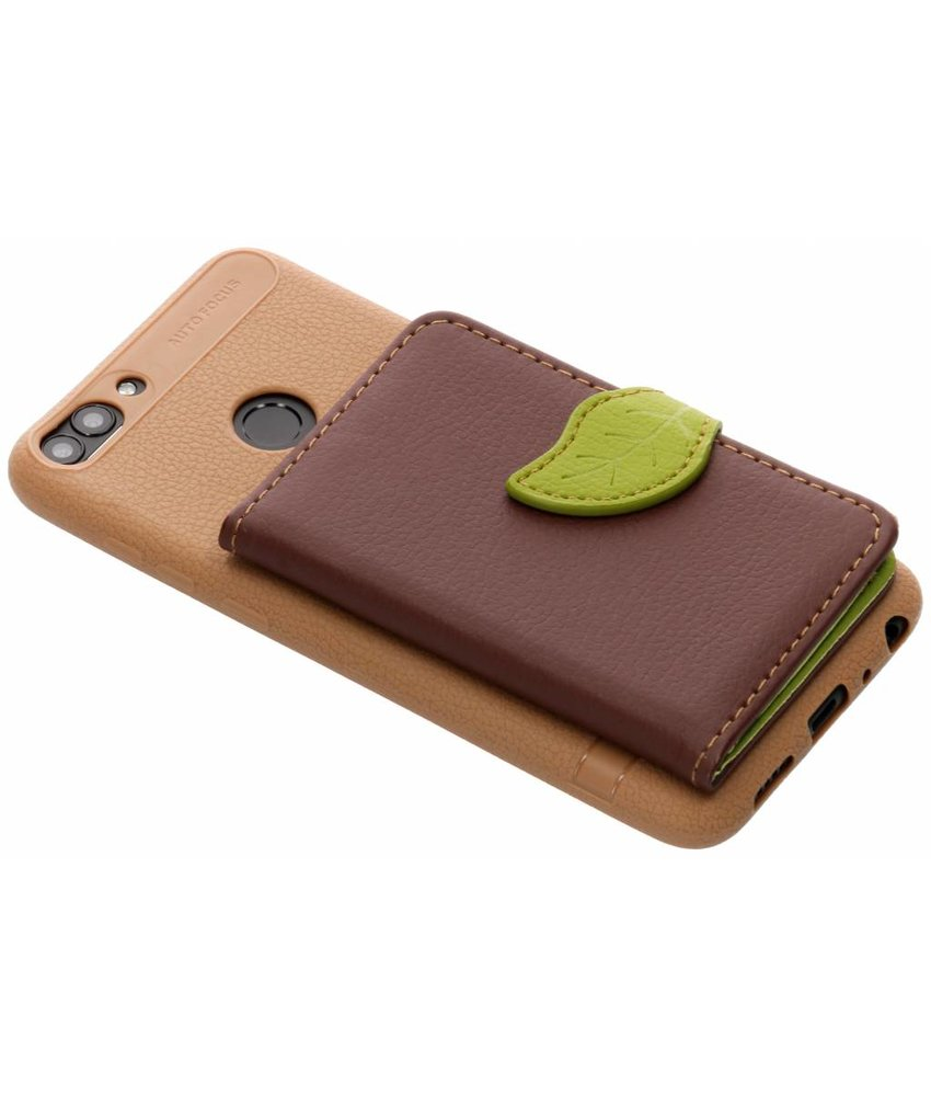 Bruin blad design TPU hoesje Huawei P Smart