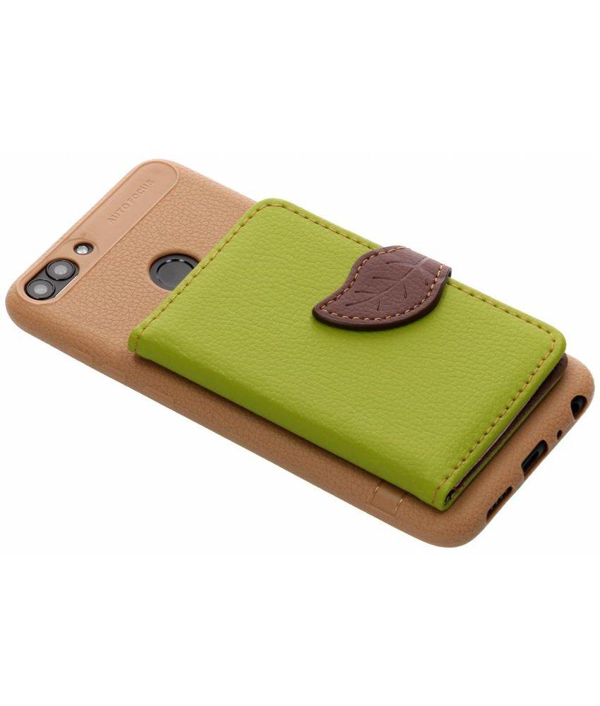 Groen blad design TPU hoesje Huawei P Smart