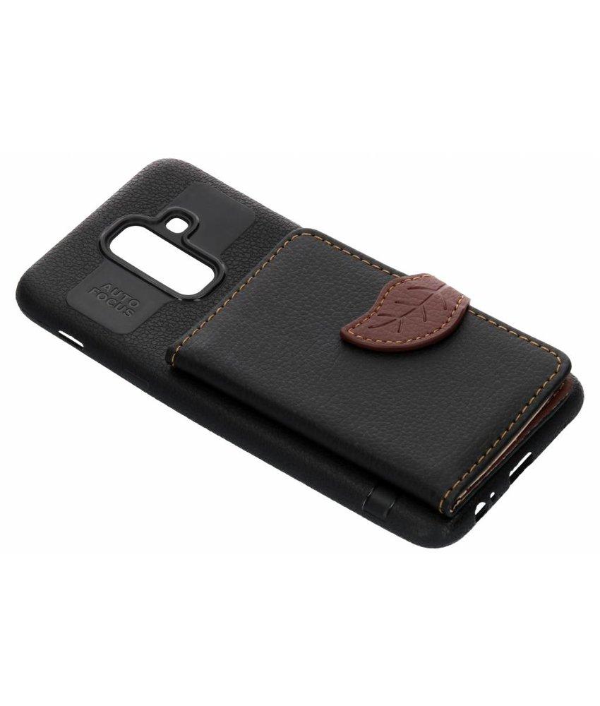 Zwart blad design TPU hoesje Samsung Galaxy A6 Plus (2018)