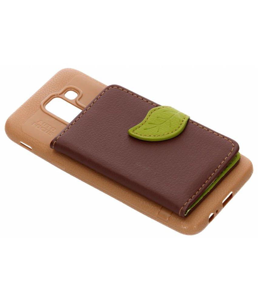 Bruin blad design TPU hoesje Samsung Galaxy J6