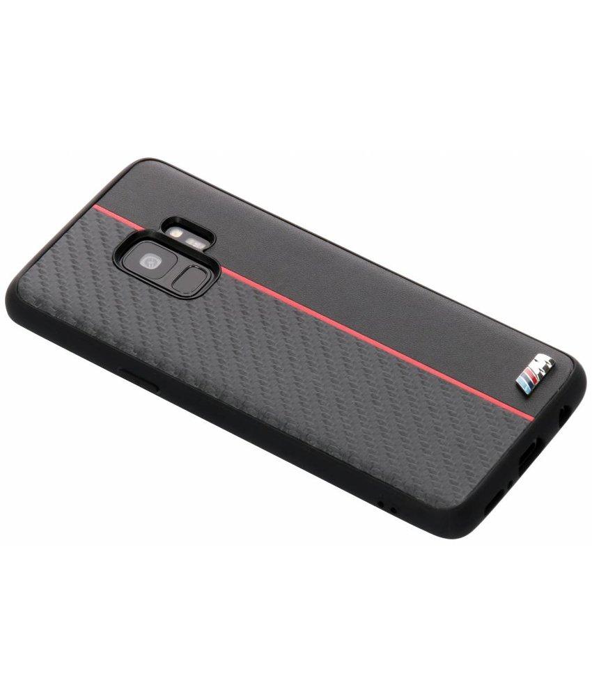 BMW Zwart / Rood M Line Carbon Hard Case Samsung Galaxy S9
