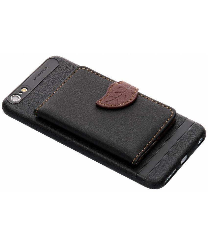 Zwart blad design TPU hoesje iPhone 6(s) Plus