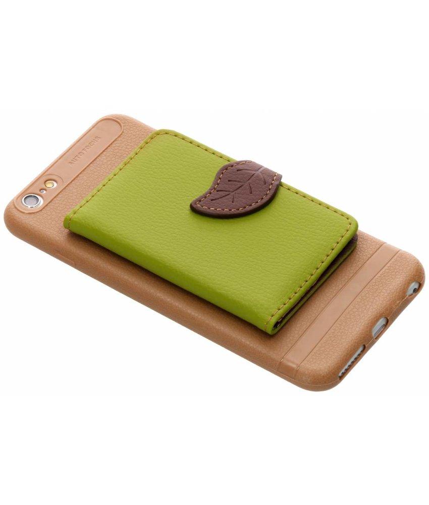 Groen blad design TPU hoesje iPhone 6(s) Plus