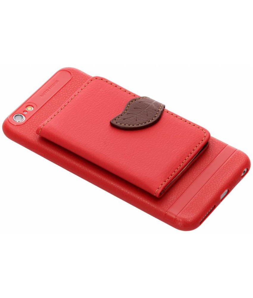 Rood blad design TPU hoesje iPhone 6(s) Plus