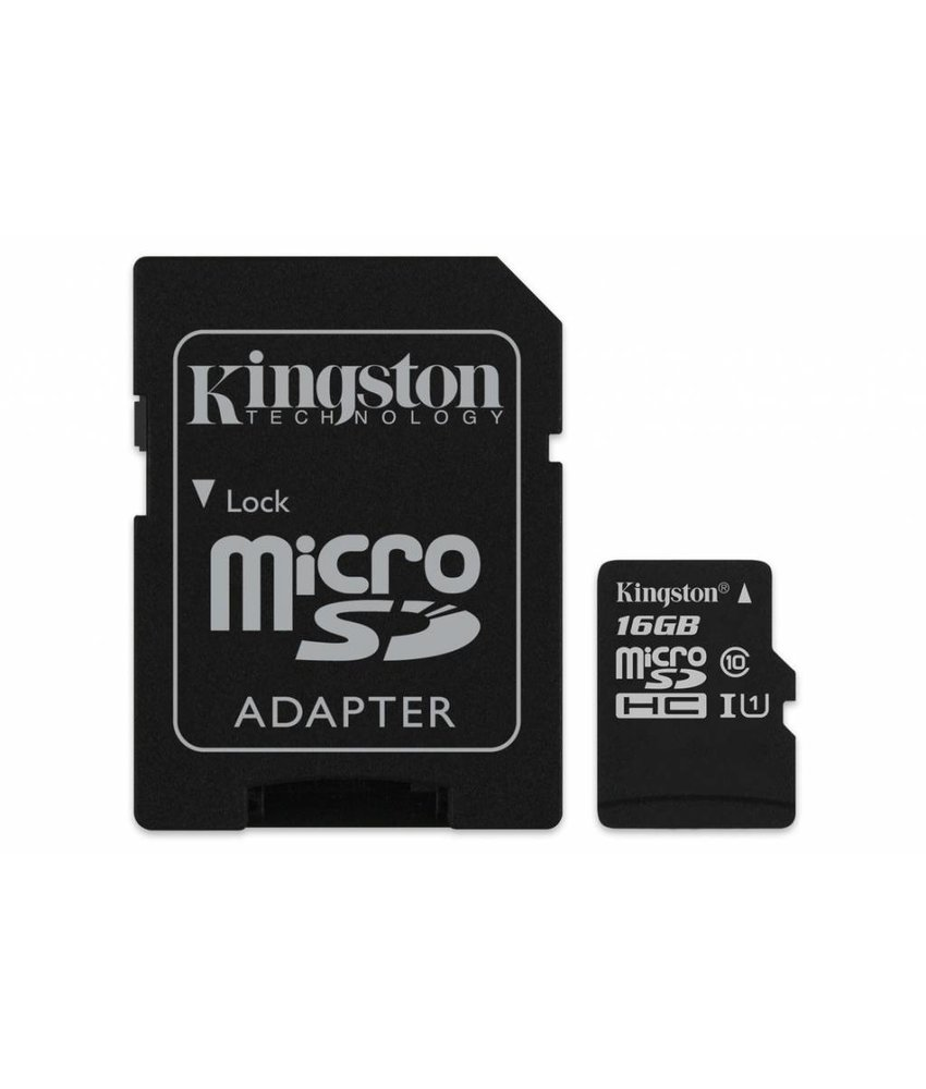 Kingston 16GB microSDHC 1 geheugenkaart klasse 10 + adapter