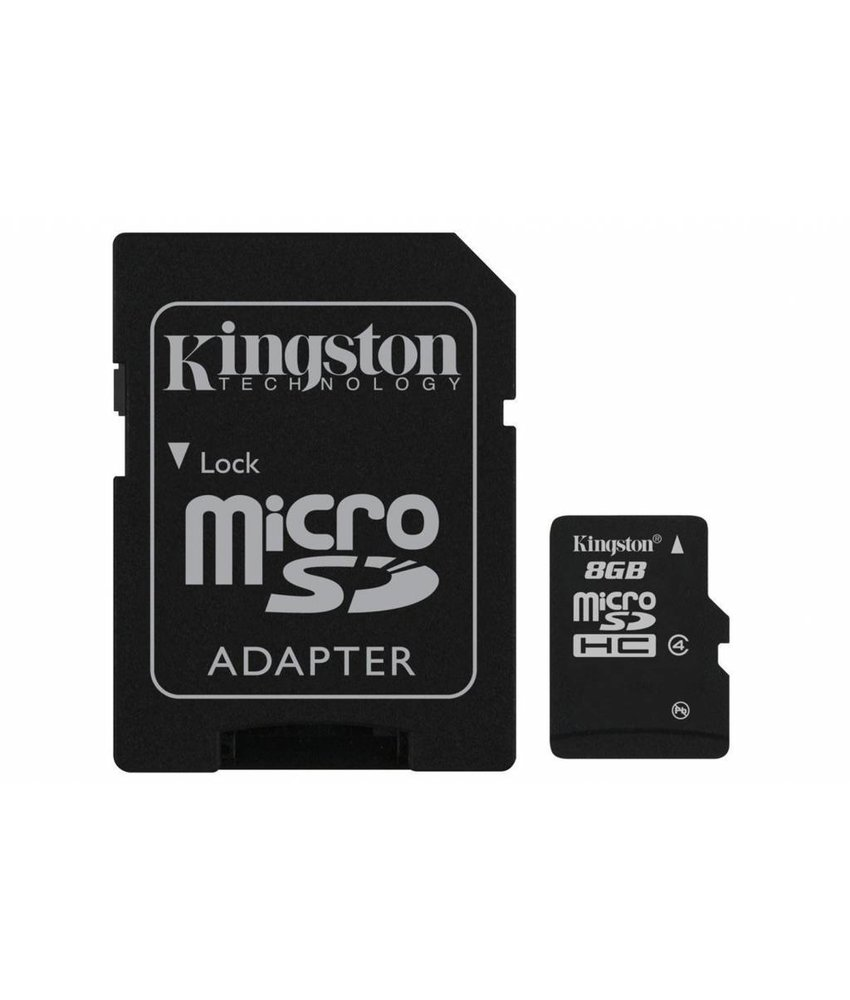 Kingston 8GB microSDHC geheugenkaart klasse 4 + adapter